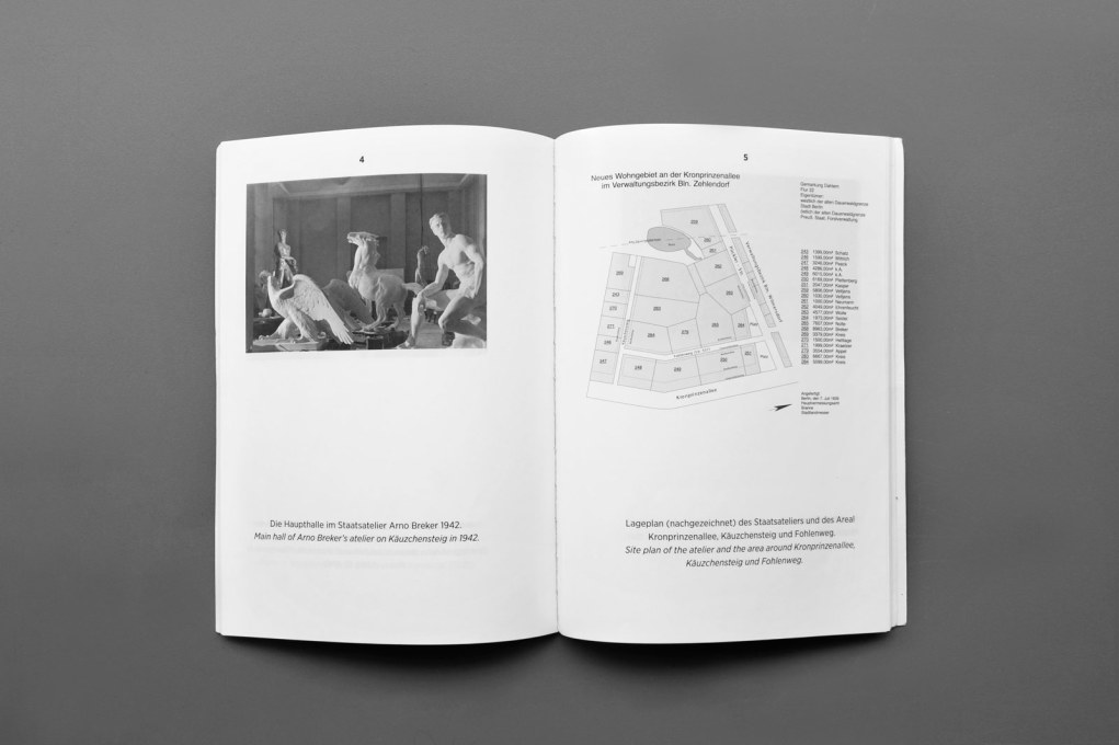 "For a history of the building, see the book ""Das Staatsatelier Arno Breker"" / ""The Arno Breker State Atelier"" in German and English, by Dr. Nikola Doll. It contains some fascinating illustrations, including vintage photographs.."