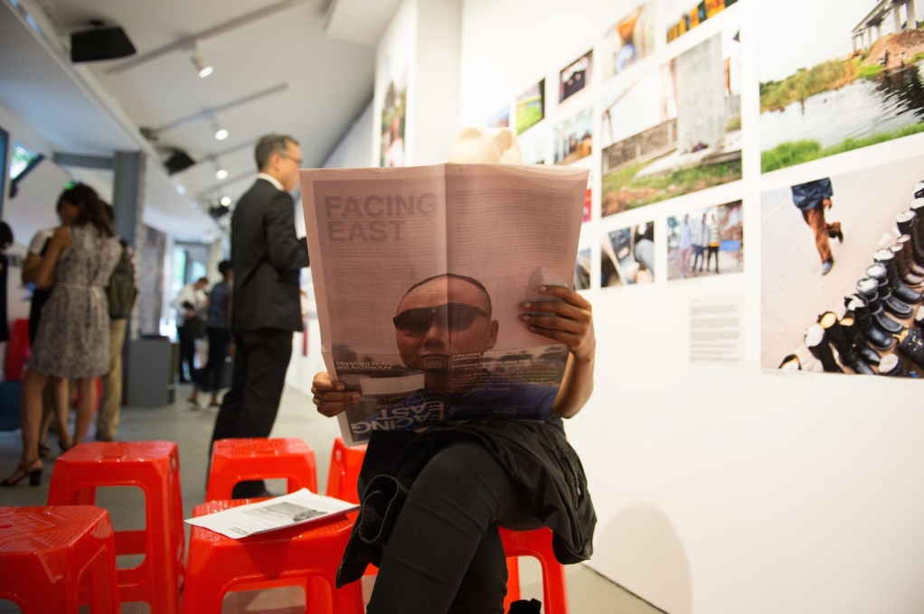 """Facing East: Chinese Urbanism in Africa"", 2015. Curated by Michiel Hulshof and Daan Roggevan, Storefront for Art and Architecture. (Photo: Qi Lin)"