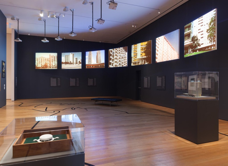 "Installation view of ""Latin America in Construction: Architecture 1955-1980"", 2015. (Photo: Thomas Griesel, © The Museum of Modern Art, New York)"