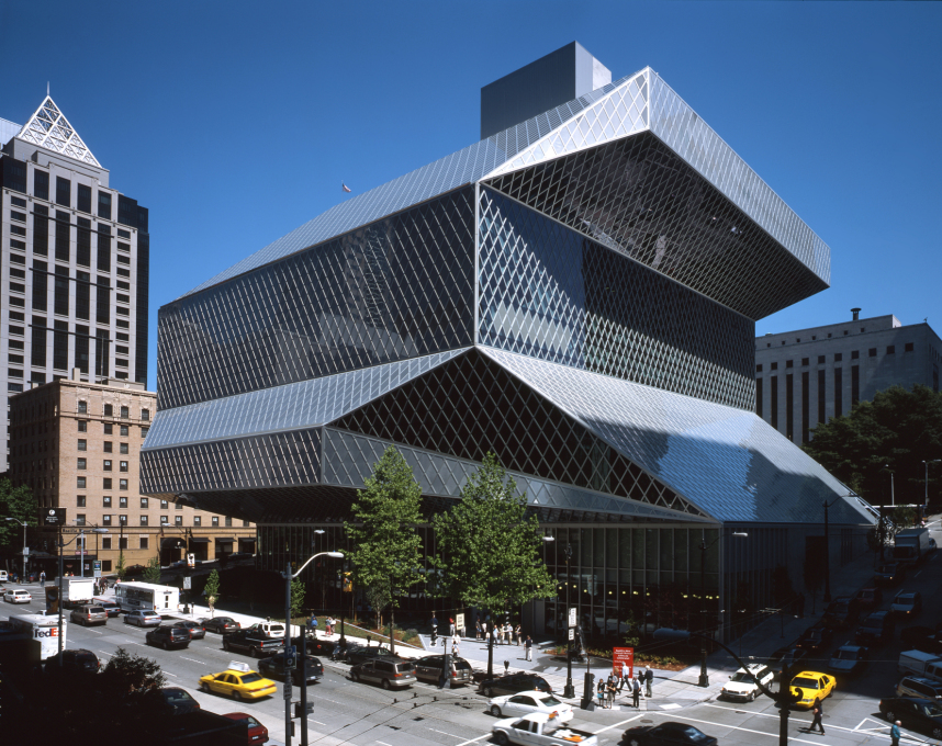 Culture:City - OMA's Seattle Library (199-2004) - giant gesture or large civic living room? It's big, it's by REM: enough said. (Photo: Philippe Ruault)