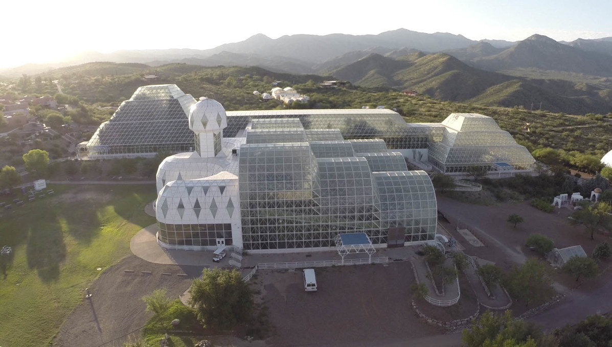 The different Biomes facilitate the flourishing of different life forms... (Courtesy CDO Venture LLP/University of Arizona Biosphere 2)