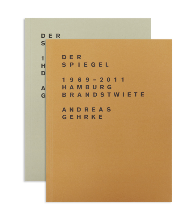 The latest Drittel Books publication (1 of 2 books): Der Spiegel 1969-2011; Hamburg, Brandstwiete; numbered edition of 300 (Photo: Andreas Gehrke / Drittel Books).