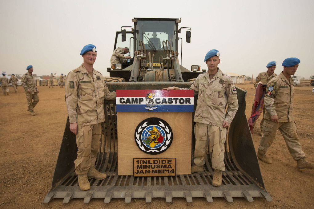 Welcome to Camp Castor and the familiar blue berets of the UN peacekeeping forces. (Image © Dutch Ministry of Defence)