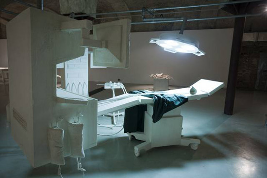 """Operation Room"" from ""Cradle to Cradle"" shown at Winzavod Centre for Contemporary Art in Moscow, 2009."