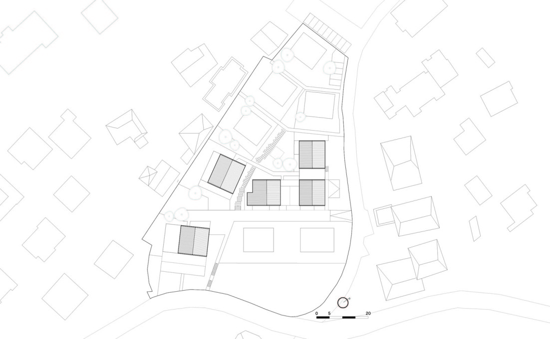 Plan of the Eppan Housing Complex. (All drawings courtesy feld72)