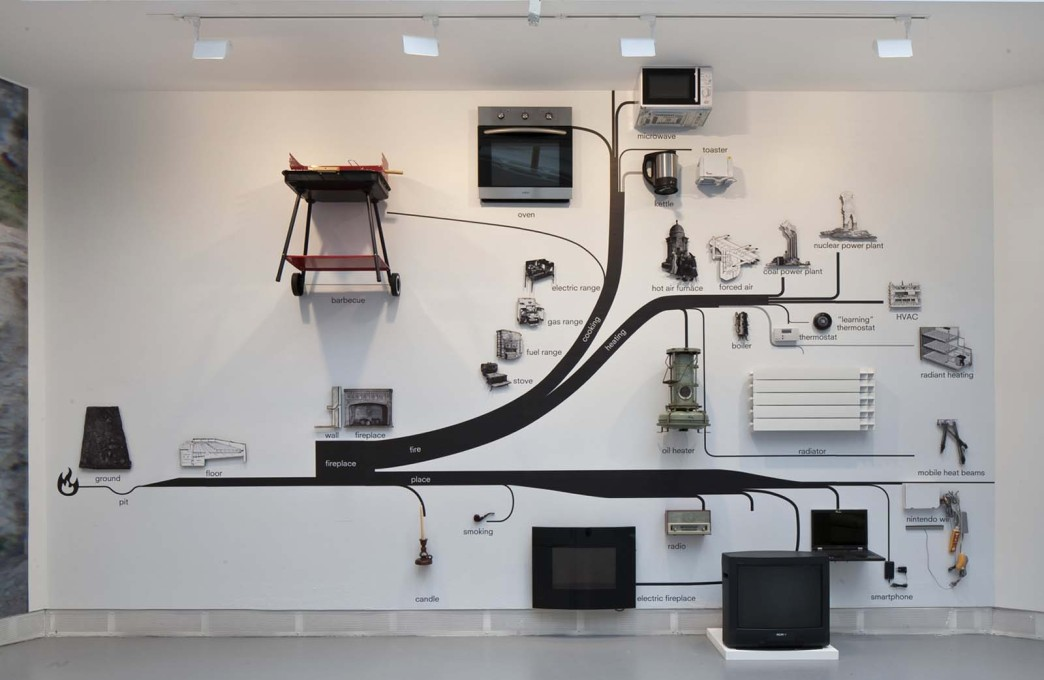 "...""Fireplace"": with a typical OMA flow chart. (Photo: Francesco Galli, Courtesy la Biennale di Venezia)"