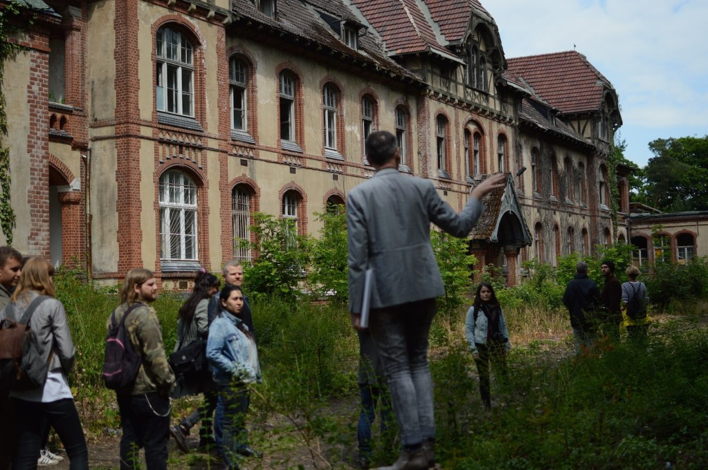 A little further from the city centre, a tour around the former Beelitz sanatorium explored not only the rich history of the site… (Photo: Fiona Shipwright)