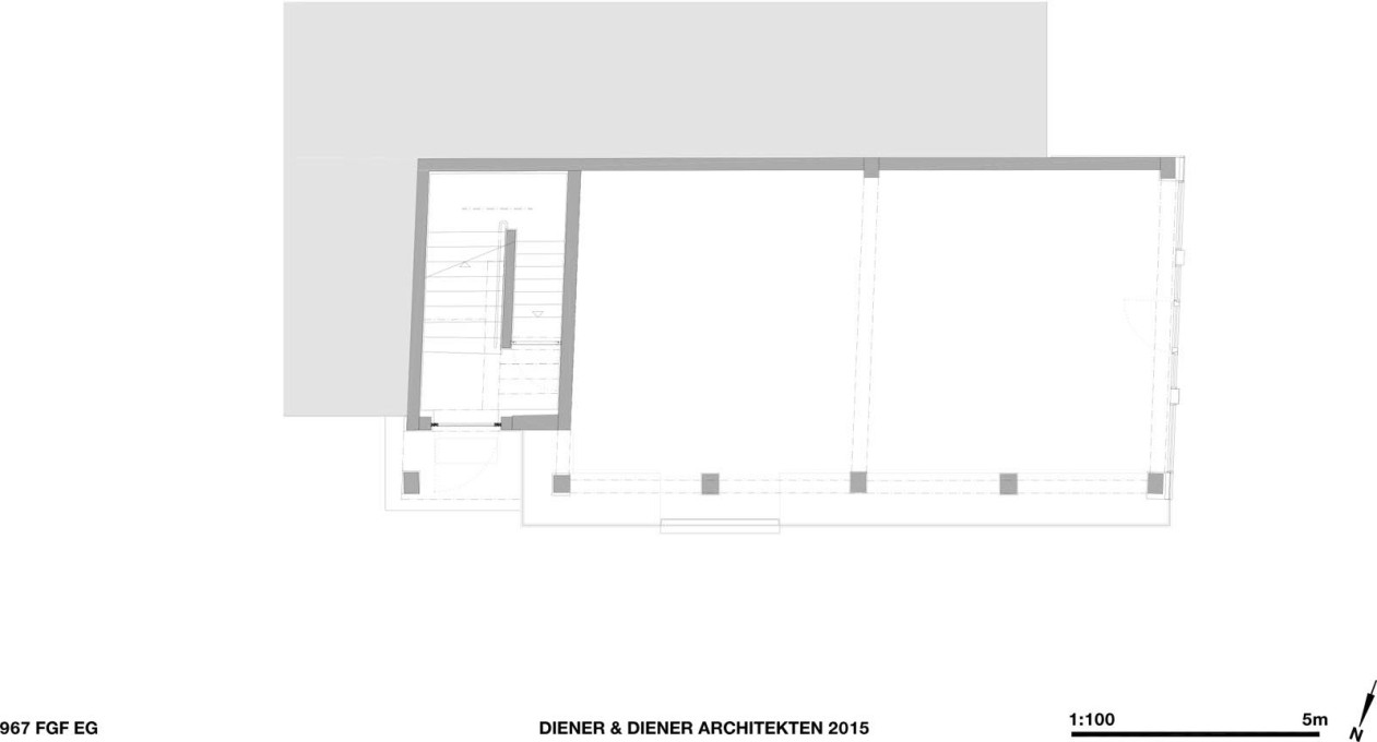 Ground floor plan. (Courtesy Diener & Diener)