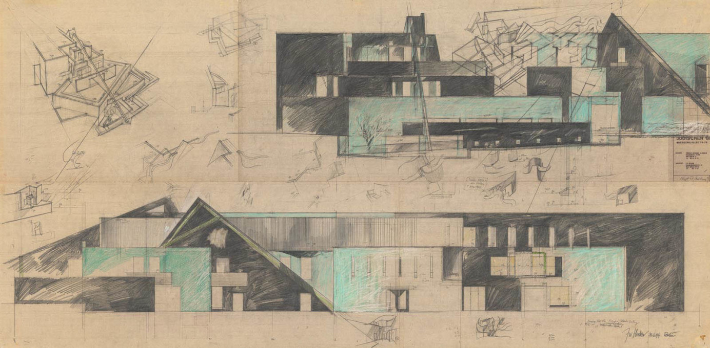 "For Hejduk, Zvi's working plans for the building are ""the most dynamic, kinetic, riveting plans in the history of architecture."""