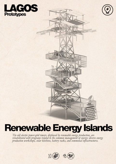 Lagos Tomorrow. 2014. Renewable Energy Islands prototype. (Courtesy NLÉ and Zoohaus/Inteligencias Colectivas)