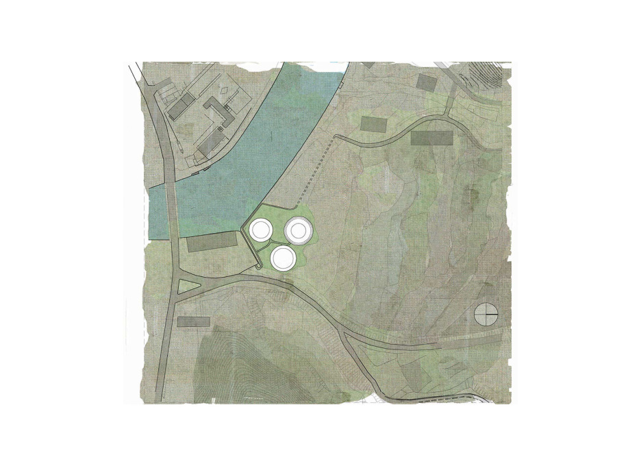 Site plan aerial view.