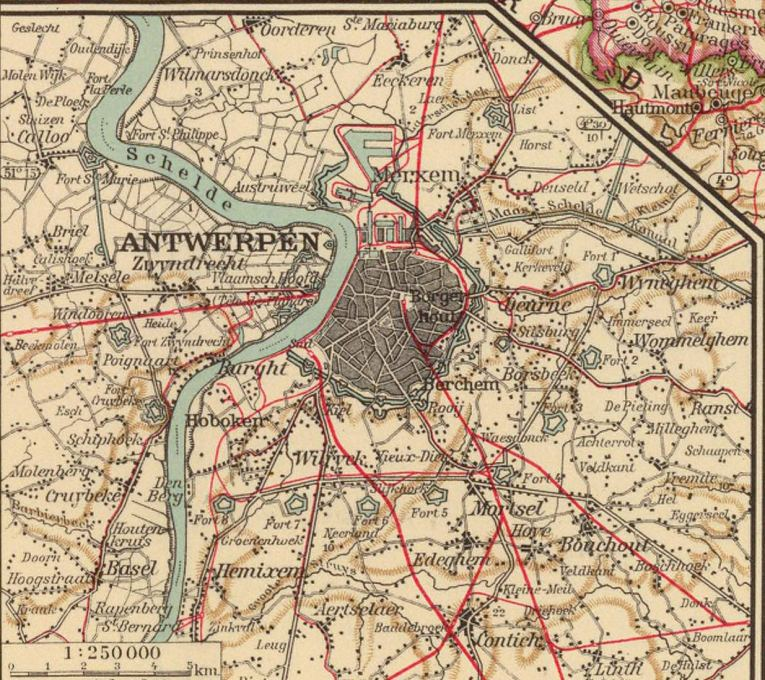 Map of Antwerp from 1929. Wilmarsdonk is in the top left corner. (Photo: Port of Antwerp)