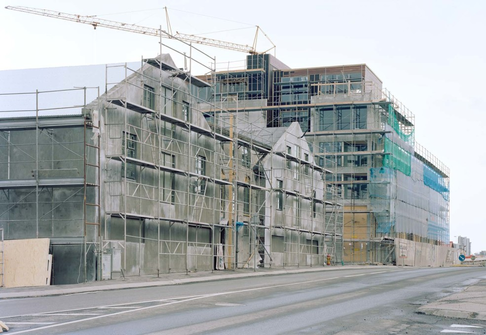 ...increasingly dominated by the concrete grey of construction sites...