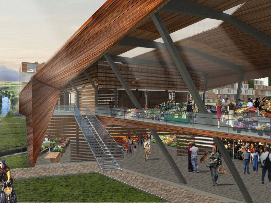 Middle-class dreams? Proposed farmer's market in Bogotá. (Image: Archi-Tectonics)