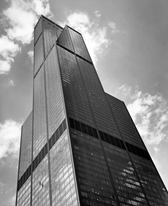 In 1974, SOM completed the 110-storey tall Sears tower. (Photo © Ezra Stoller ESTO)