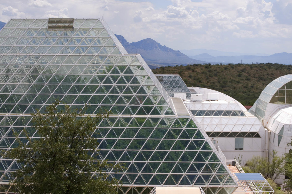 "...who ""showed that shape is the primary determinant of structural performance"". (Courtesy CDO Venture LLP/University of Arizona Biosphere 2)"