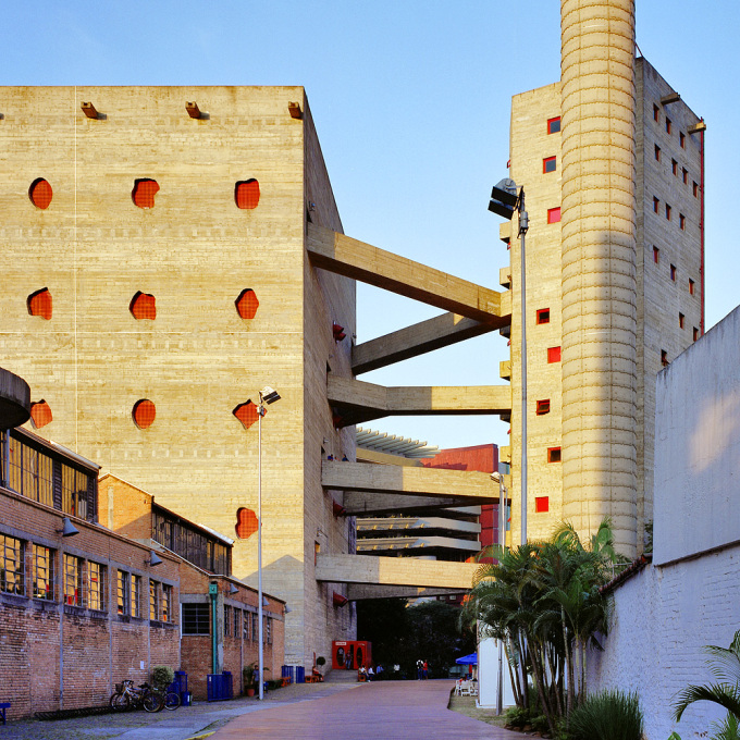 Marcello Ferraz will also participate. Shown here is the SESC Pompéia, a project he completed in conjunction with a superstar of Brazilian modernism, Lina Bo Bardi.