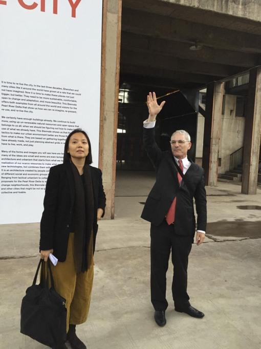 Two of the curators: Doreen Heng Lui and Aaron Betsky. (Photo: Rob Wilson)