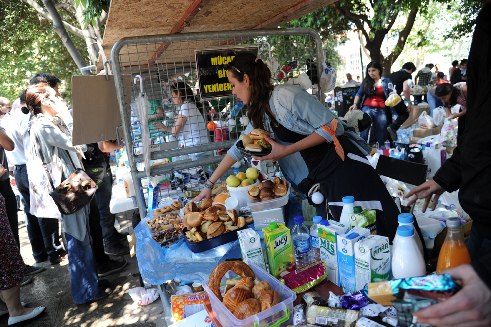 The  kitchen  stall that offered the community donated food and drink. Istanbul s Gezi Park and its brief life as a fully functioning