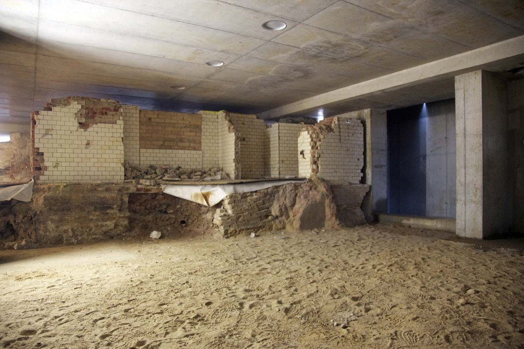 The remains of the kitchen of the original Schloss below the new construction, 2013.