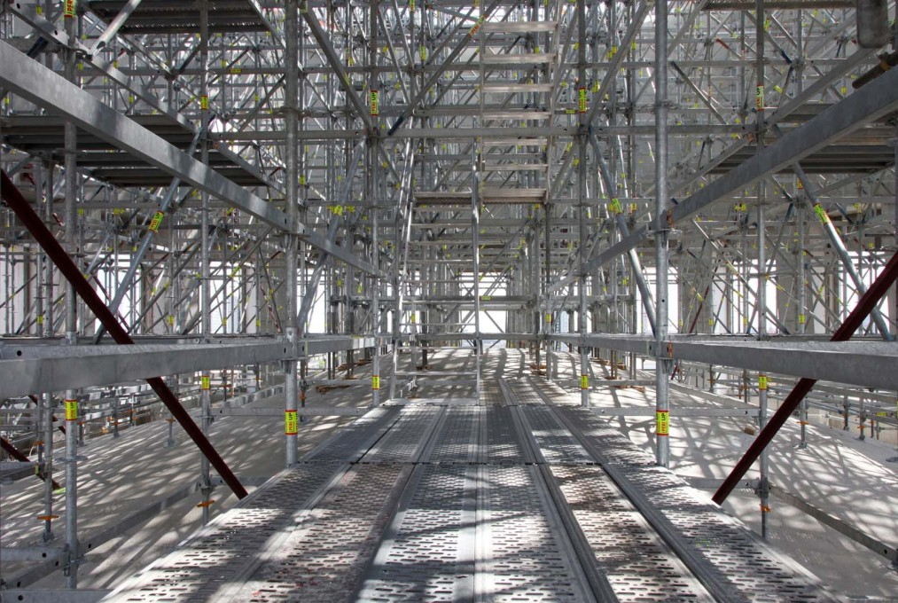 The dome's scaffolding, 2015.