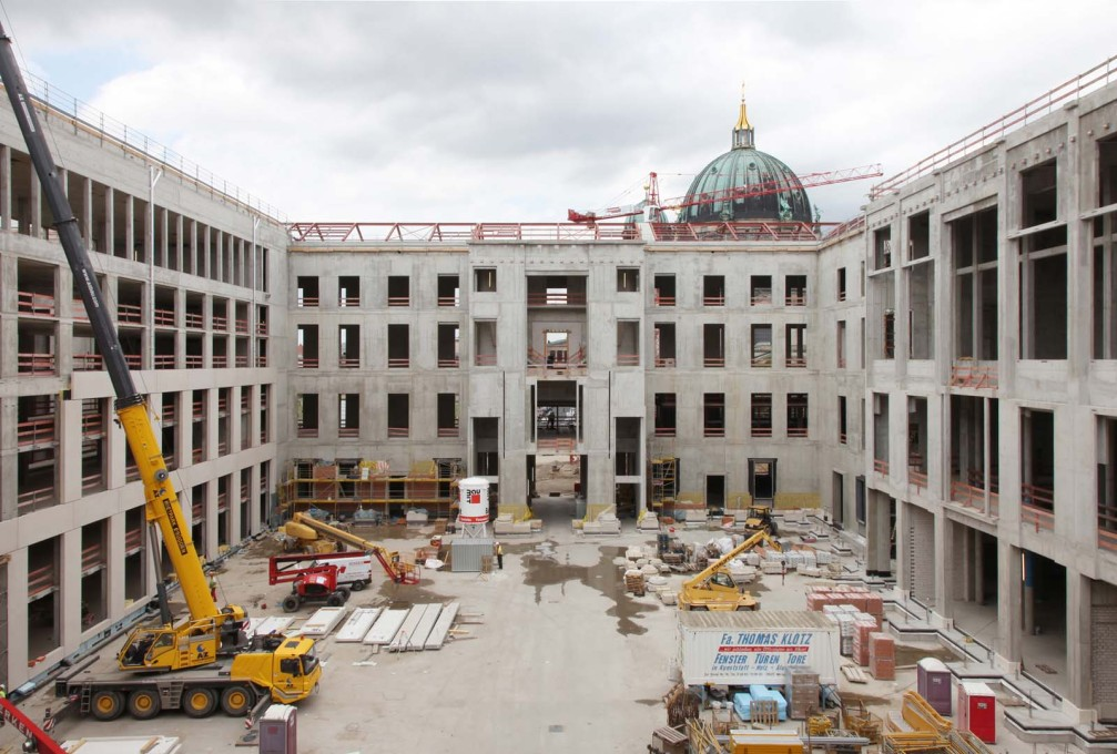 Schlüterhof, the main courtyard in the new Stadtschloss, 2015.