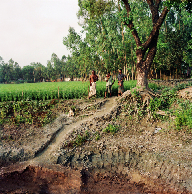 The start of the construction of the Centre in 2008, showing the rich silted soil of the river plain. (Photo: Kashef Chowdhury)
