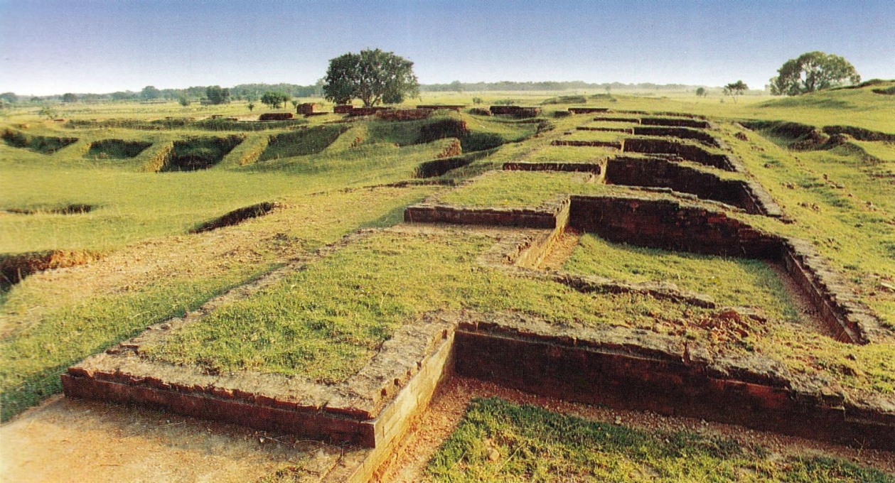 The remains of Vasu Monastery at Bogra, dating from the 8th Century, found 65 km from the site of the Friendship Centre, and typical of the Buddhist ruins that inspired it. (Photo: Chetana)